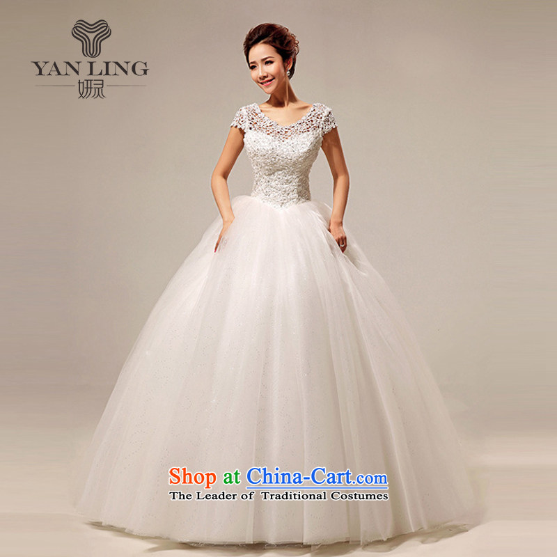 Charlene Choi Ling 2015 new Korean word wedding dresses shoulder sweet lace princess sexy to align the wedding HS290 L