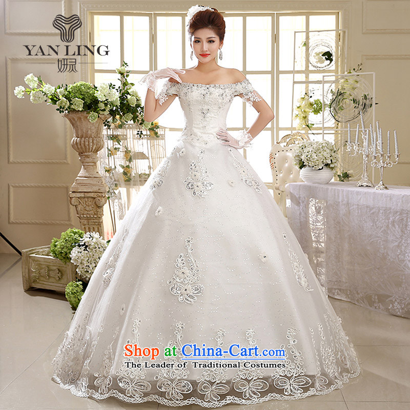 Charlene Choi Ling 2015 wedding dresses new 2014 Korean Bridal Suite a field to align the shoulder graphics thin Korean HS593 White?M Strap