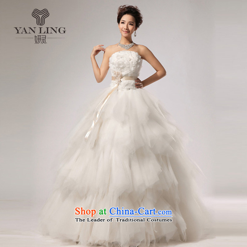 Charlene Choi Ling 2015 NEW VERY elegant sweet anointed WANG antique chest stylish wedding White?XL