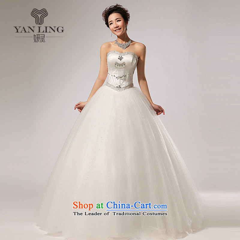 Charlene Choi Ling 2015 new anointed chest diamond align to skirt the new bon bon wedding dresses HS260 dropped white S