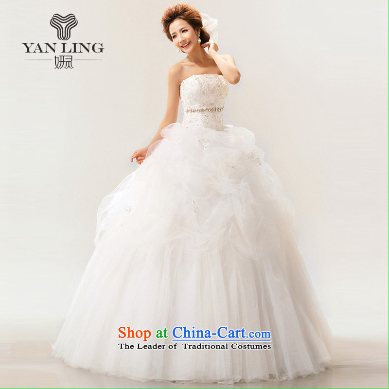 Charlene Choi Ling 2015 new Korean Won-sweet words to his chest straps bride wedding dresses White?M