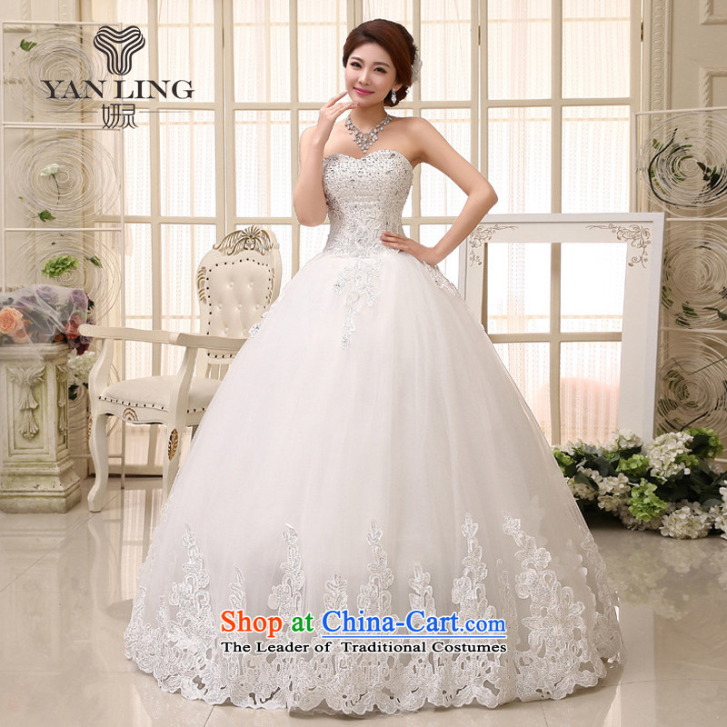 Charlene Choi Ling 2015 bride wedding dresses Korean sweet to align the princess elegant wedding to align the princess skirts HS531 L