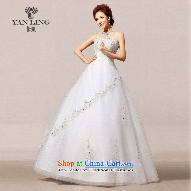 Charlene Choi Ling 2015 new wedding tail winter wedding wedding dresses and chest wedding dress HS80 white S