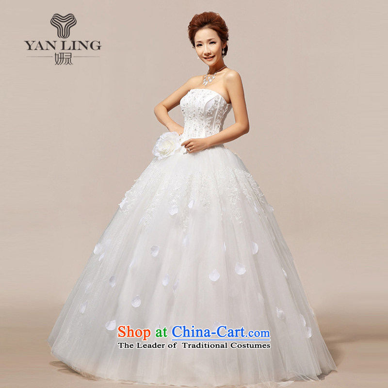 Charlene Choi Ling 2015 new Korean stars with Korean sweet flowers marriages wedding dresses?HS118?White?XXL