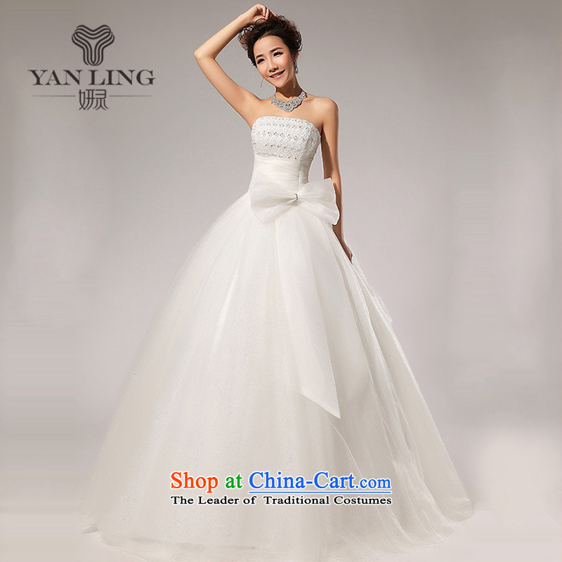 Charlene Choi Ling 2015 new?verawang wedding?style wedding anointed chest Korean wedding dress HS59 white?S