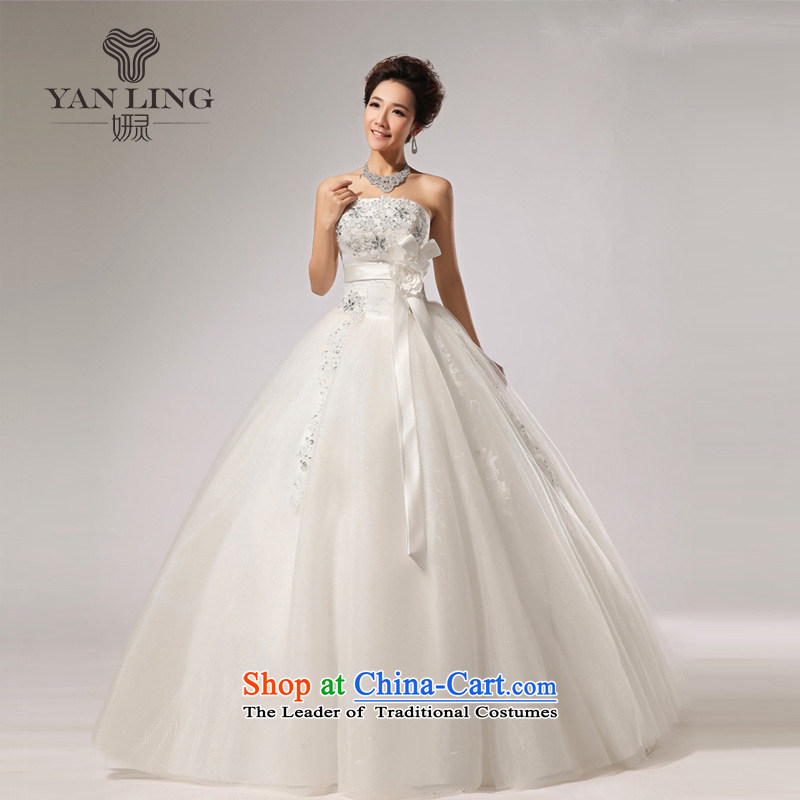 Charlene Choi Ling 2015 new anointed chest Fung skirt wedding band bride hotel wedding dresses long skirt HS271 White�XXL