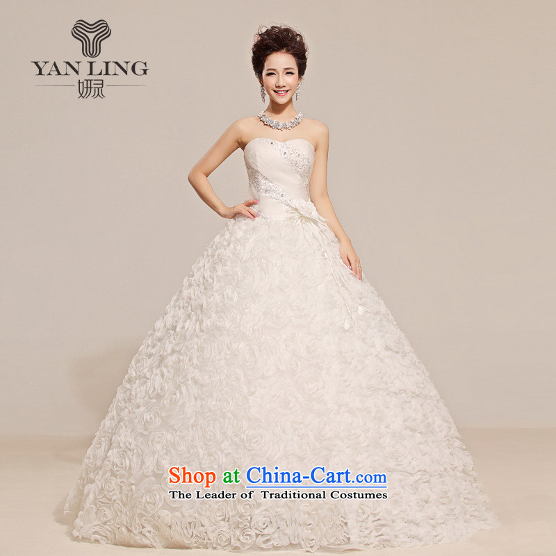 Charlene Choi Ling 2015 new anointed Chest Flower waist floral decorations Fung skirt wedding white�S