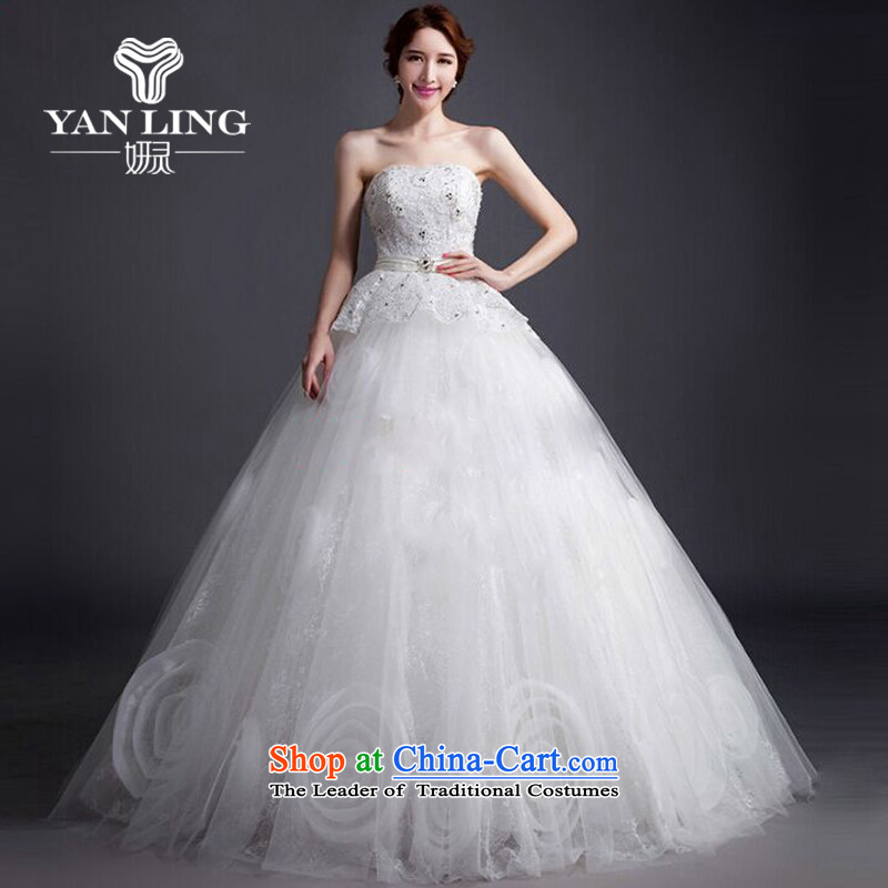 Charlene Choi Ling 2015 new spring wiping the chest in white wedding fashion pregnant women wedding dress a bride wedding wedding tail wedding XL