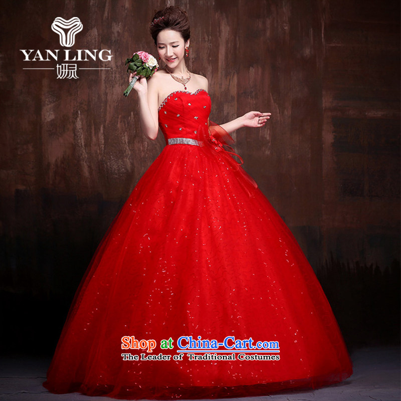 Charlene Choi Ling 2015 new lace flash drill to align the shoulder strap Fung skirt The Princess Bride marriage wedding dresses J0014 RED?S