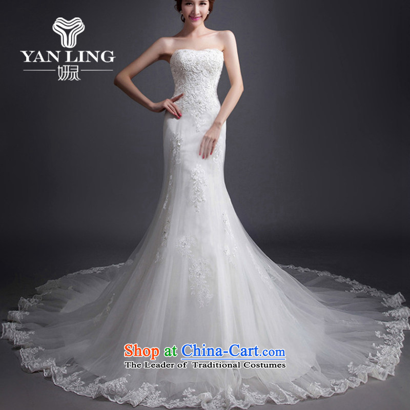 Charlene Choi Ling Korean brides retro Sau San video thin crowsfoot tail wedding dresses new 2015 anointed chest lace winter聽XL