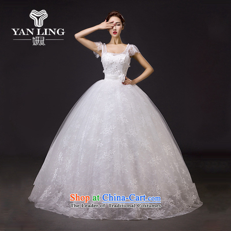 Charlene Choi Ling?2015 Spring bride wedding dresses new stylish lace cover thick shoulder to align the large Korean Sau San video thin?XXL