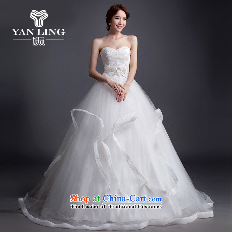 Charlene Choi Ling 2015 new wedding dresses and elegant reminiscent of the breast tissue lace diamond align to winter customizable wedding?L