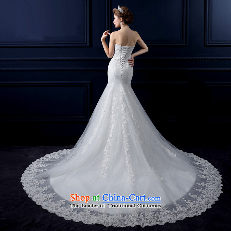 Crowsfoot Wedding 2015 new summer tail Sau San package and wedding sweet elegant crowsfoot anointed chest straps wedding video thin lace straps crowsfoot wedding Lily White聽L edge yarn yarn edge Lily , , , shopping on the Internet