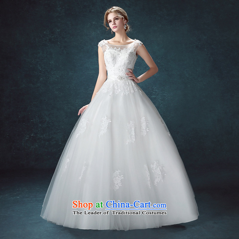 Every bride her wedding dresses Summer 2015 new Korean minimalist shoulders to align graphics thin wedding dress to marry field shoulder wedding white聽S