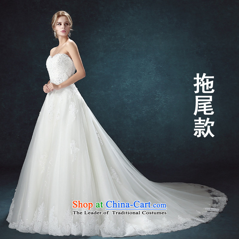 Every heart-shaped anointed chest Connie wedding dresses new 2015 Summer Korean fashion lace Diamond Deluxe tail wedding video thin tail,?XXL pre-sale within seven days of the Shipment