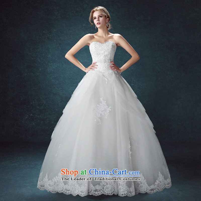 Every bride her wedding dresses 2015 Summer new wiping the chest to large tie Sau San wedding upscale wedding white?S pre-sale within seven days of the Shipment