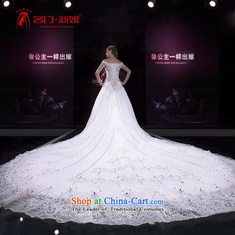 A bride wedding dresses new Word 2015 shoulder tail wedding bride wedding custom tailored 2585th 20%