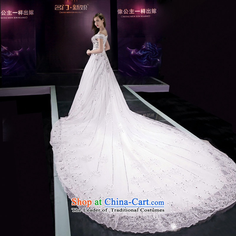A bride wedding dresses new Word 2015 shoulder tail wedding bride wedding 2585th custom tailored to 20 per cent plus one door bride shopping on the Internet has been pressed.