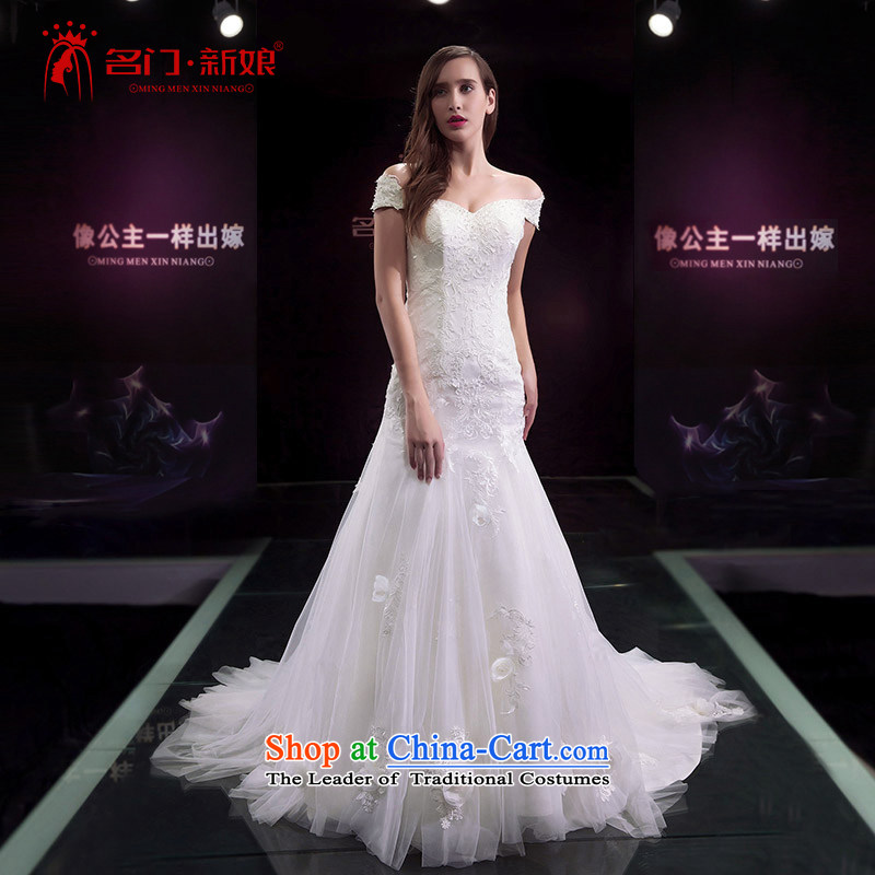 A bride wedding dresses new 2015 tail wedding word shoulder crowsfoot wedding 2� 588 S pre-sale 7 Days