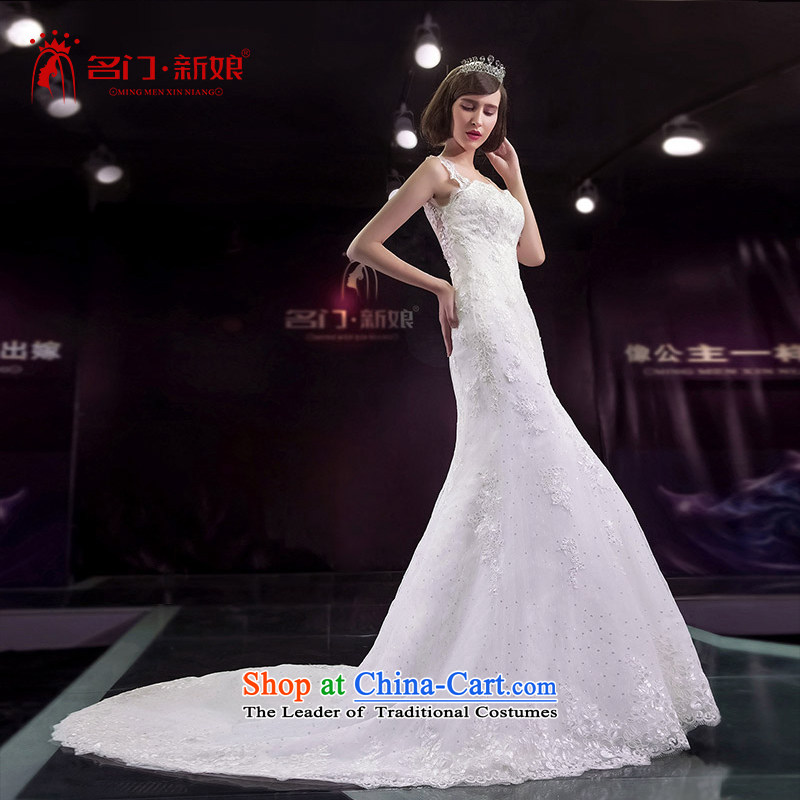 A bride wedding dresses new 2015 crowsfoot wedding smearing a field in Europe 410 L brides shoulder