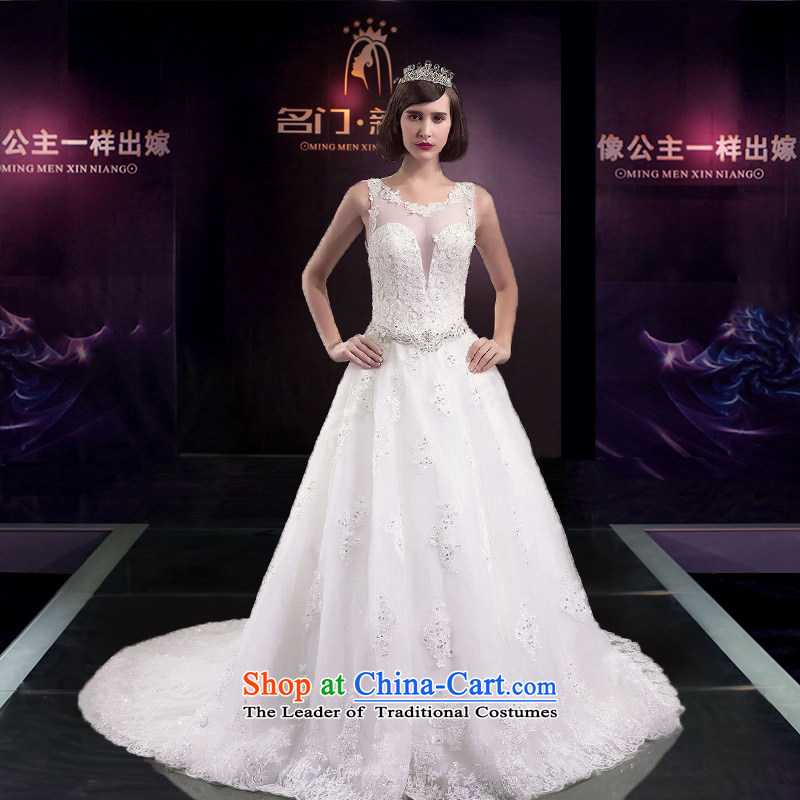 A Bride 2015 Summer wedding dresses wedding smearing the word shoulder banquet tail wedding 2593RD L pre-sale 7 Days