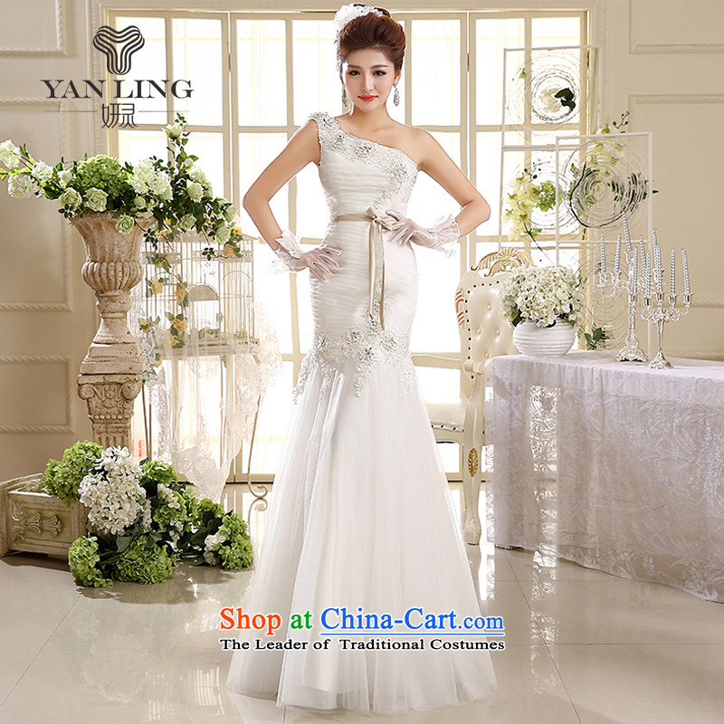 Charlene Choi Ling 2015 wedding dresses new Korean Princess shoulder straps wedding dresses crowsfoot wedding HS582 L
