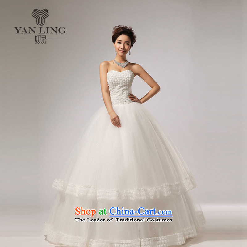 Charlene Choi Ling 2015 new anointed chest Marquee to skirt for Hotel Courtesy bride wedding dresses HS267 L