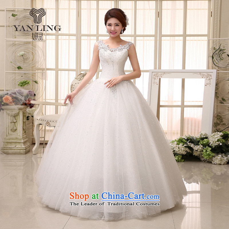 Charlene Choi Ling 2015 new bride wedding dresses fine lace engraving package shoulder luxury marriage wedding dresses HS529 L