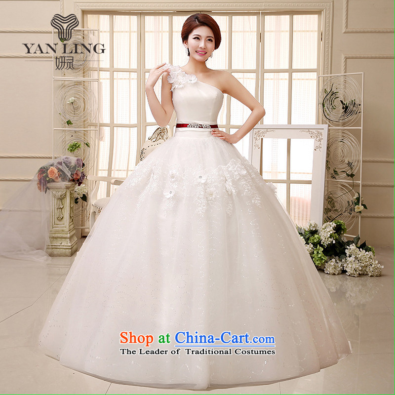 Charlene Choi Ling 2015 new wedding dress shoulder bon bon skirt small Qingxin flowers to align manually stylish wedding HS522 S