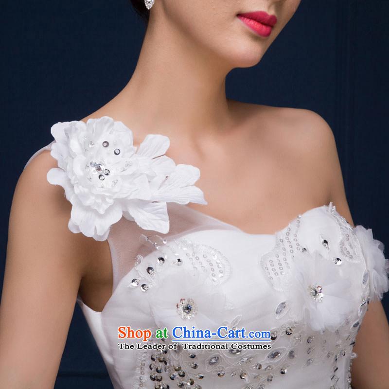 The feelings of ChineseNew Year 2015 yarn marriages wedding dresses Dress Short stylish small dress autumn and winter female whiteXL, Qing Hua yarn , , , shopping on the Internet