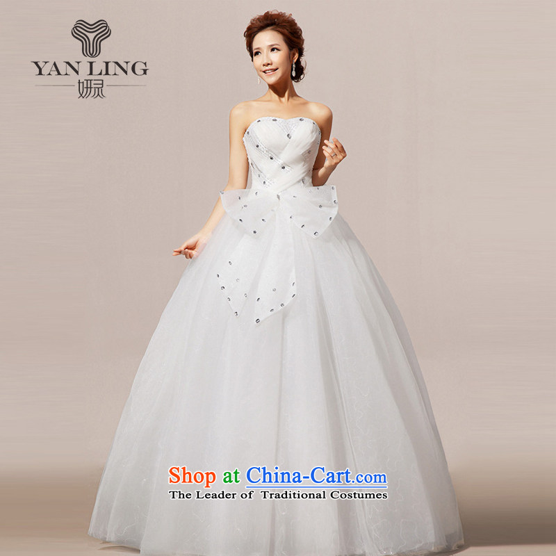 Charlene Choi Ling 2015 new wedding dresses wedding anointed chest Korean wedding dress sweet HS239 S