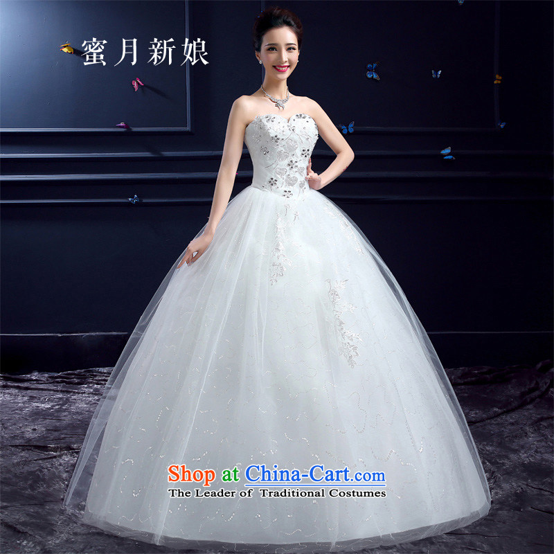 Honeymoon bride 2015 Summer wedding dresses new bride to align graphics thin Sau San diamond anointed chest lace on chip wedding white聽S