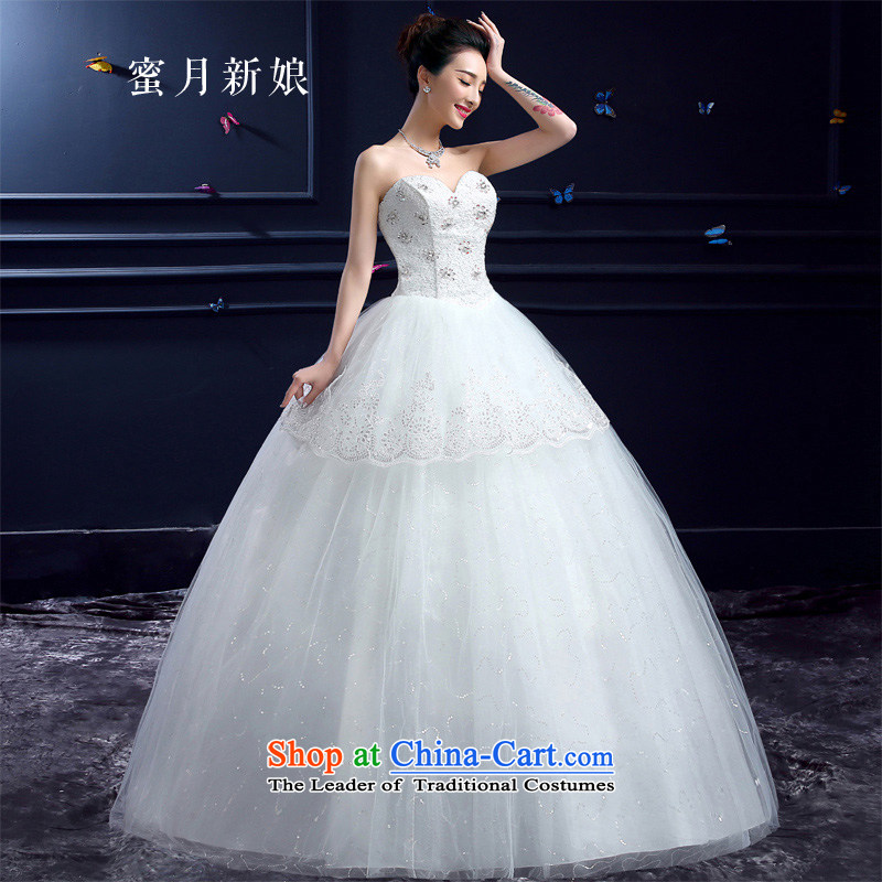 The new 2015 Summer honeymoon new wedding dresses Korean brides to align graphics thin Beauty Chest anointed diamond wedding lace White�XXL