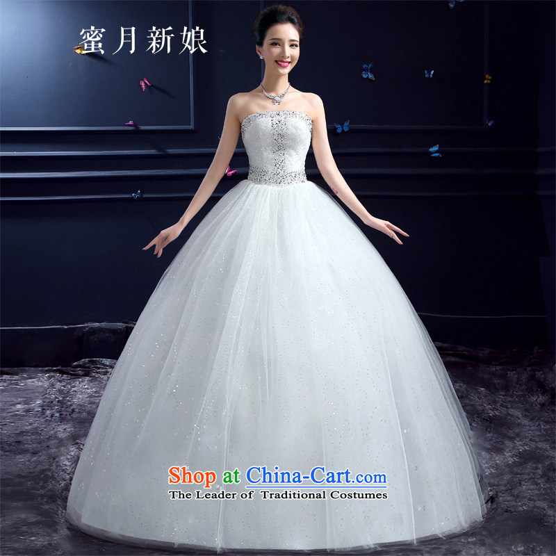 Honeymoon bride Summer 2015 new products wedding dresses Korean brides to align graphics thin Beauty Chest anointed diamond princess wedding white�S