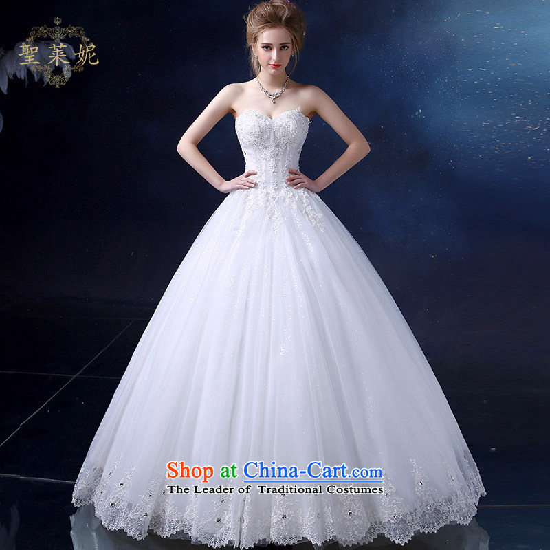 The Holy her wedding dress to align the 2015 Summer Wedding new continental and chest straps for larger women married to the Princess Bride sleeveless skirt dress White M