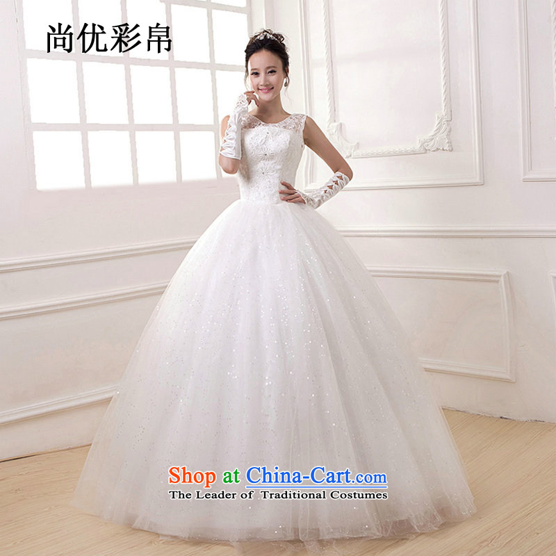 There is also optimized 8D wedding dresses 2015 new Korean brides stylish wedding video thin engraving to align the tie of Sau San dm4102 White�XL