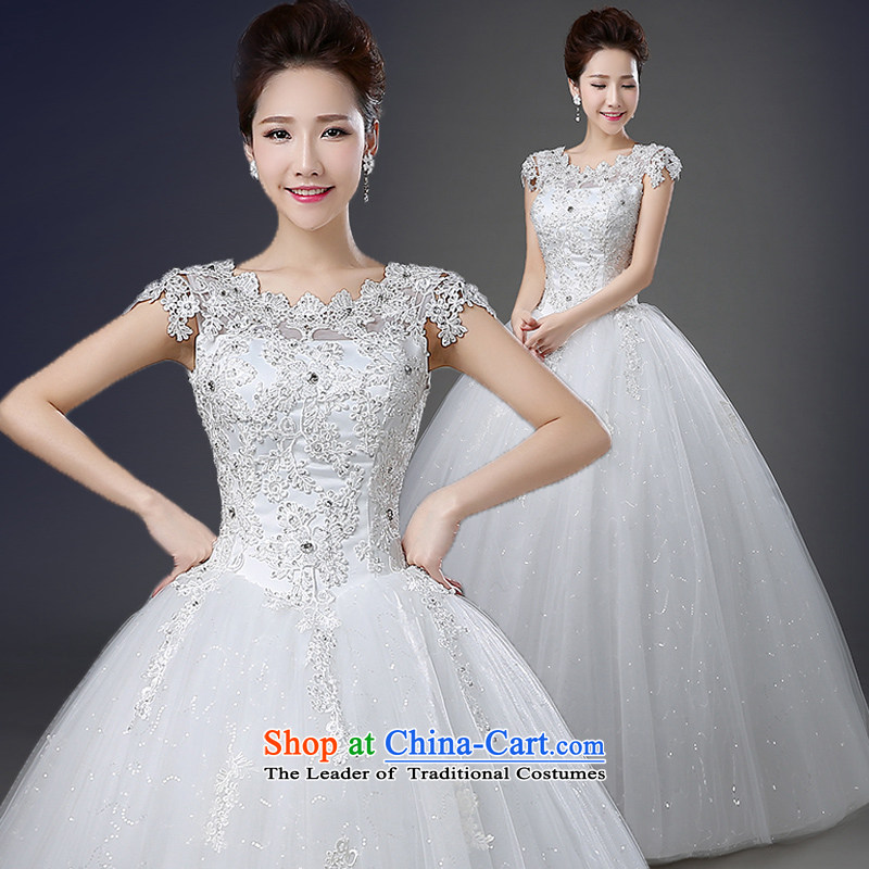 The word wedding shoulder the spring and summer load new 2015 Korean marriages lace larger straps to align the Diamond Dress Photography wedding white�S