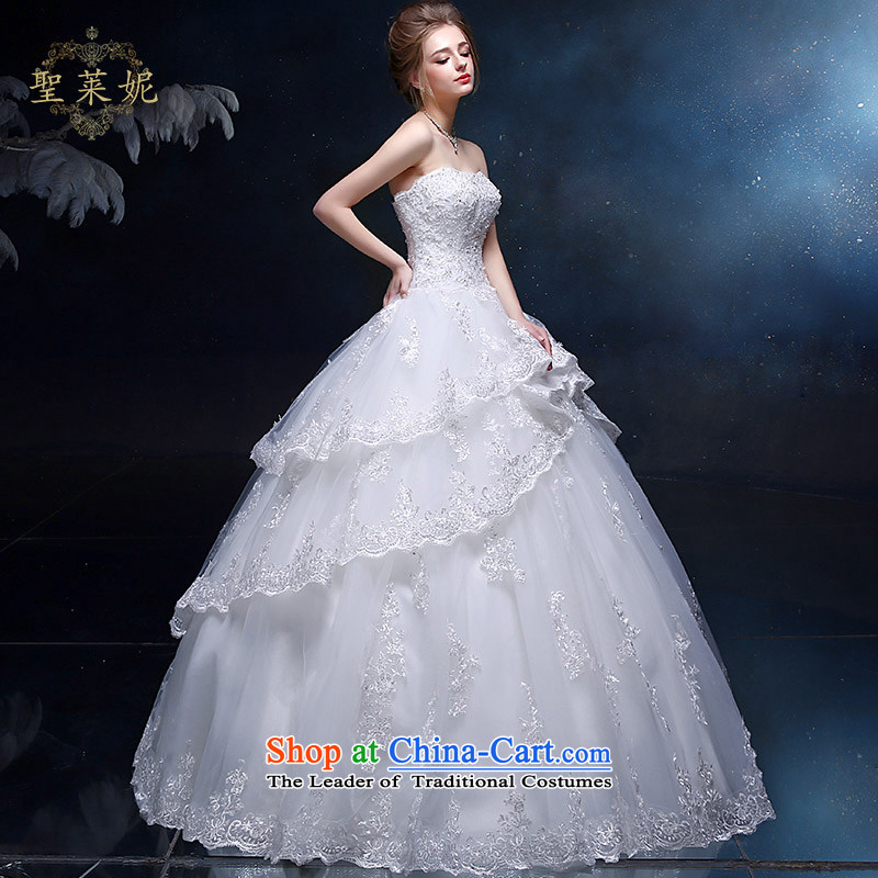 The Holy her wedding dresses new larger continental retro palace cake skirt white marriages, large wedding dress white L