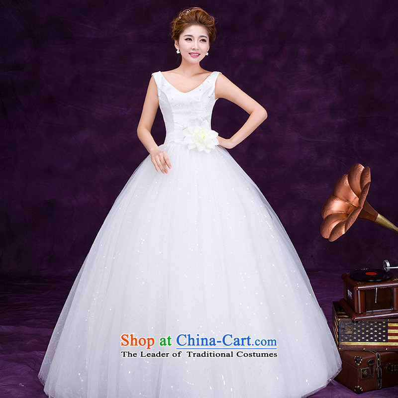 There is also optimized 8D 2015 new anointed chest shoulders embroidered White gauze marriages to align Foutune of video thin wedding dresses and simple princess dm3105 sweet White?XL