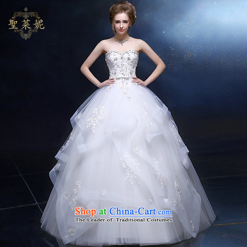 The Holy her wedding dress 2015 new larger European-style boutique and wrinkle Ms. petticoats white customization marriage wedding dresses White�M