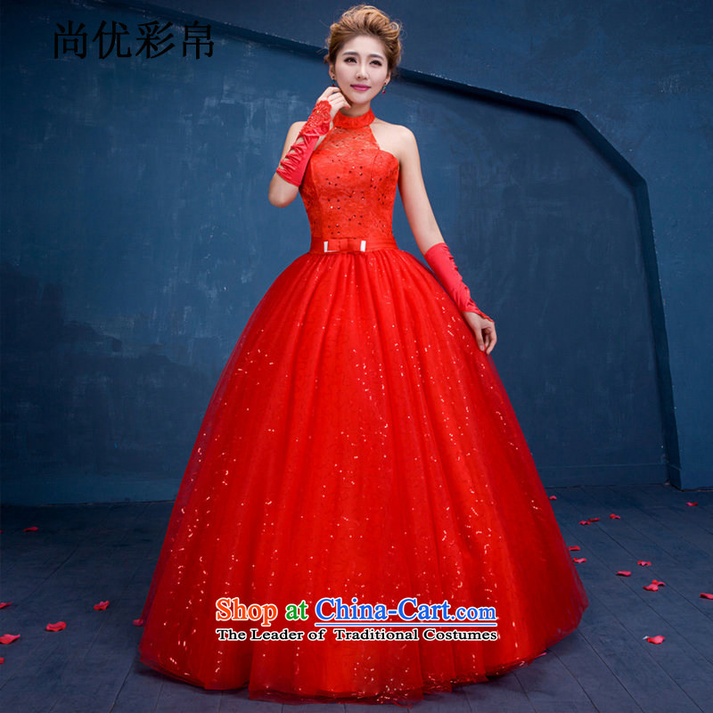 There is also optimized 8D China wind wedding dresses to align marriages red Sau San video thin back and sexy wedding dm3107 red?L
