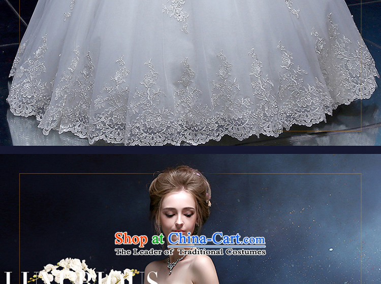 The Holy her wedding dress bride women princess wedding continental palace to his chest and large numbers of marriage and chest dress custom skirt white聽L picture, prices, brand platters! The elections are supplied in the national character of distribution, so action, buy now enjoy more preferential! As soon as possible.