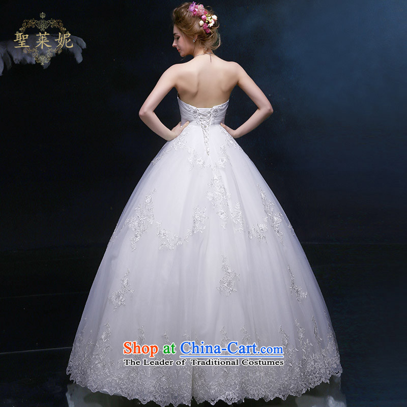 The Holy her wedding dress bride women princess wedding continental palace to his chest and large numbers of marriage and chest dress custom skirt聽her Holy One white, L (lai ni) sheng , , , shopping on the Internet