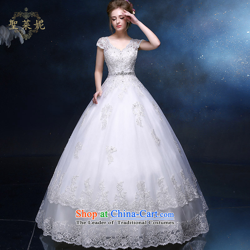 The Holy her wedding dress 2015 new A-skirt elegant shoulders, married to large wedding dresses continental minimalist white thin聽M sanctuary video her lai ni) sheng , , , shopping on the Internet