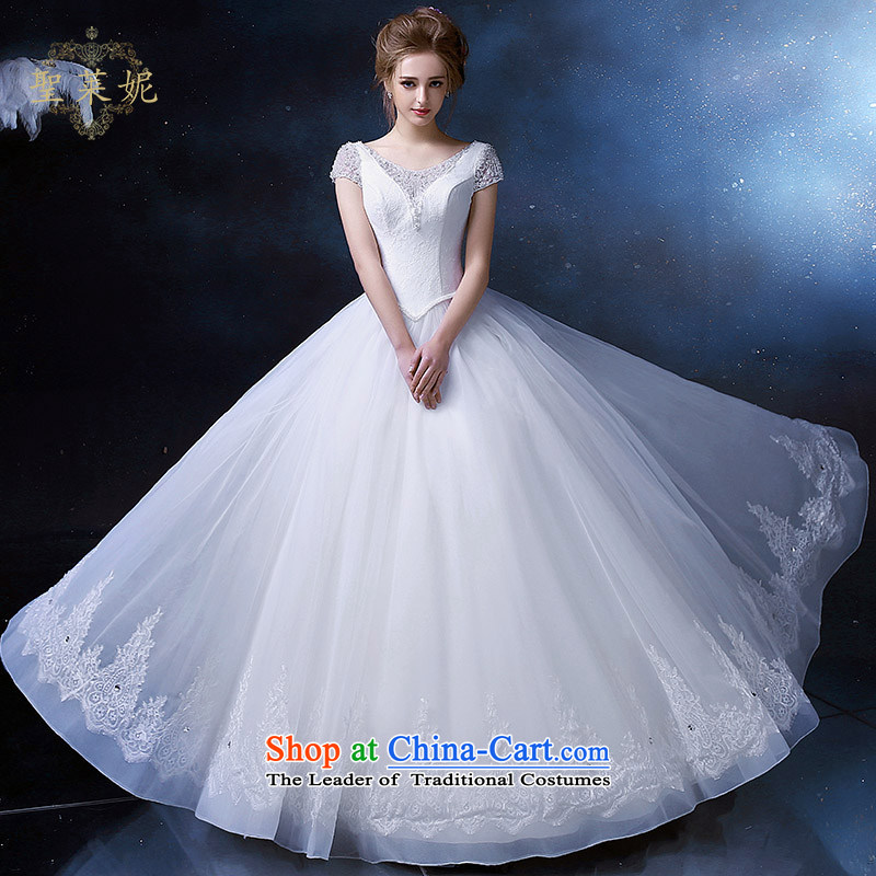 The Holy her wedding dress 2015 Continental retro princess skirt larger custom bride flower Ms. petticoats wedding dresses White?M