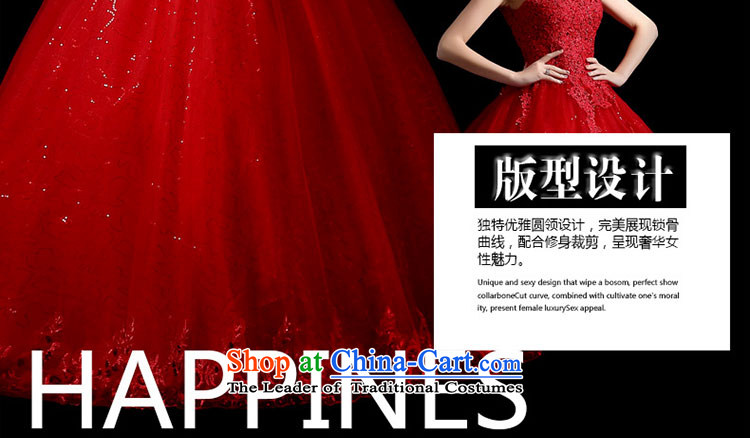 The leading edge of the Formosa lily wedding dresses 2015 new autumn and winter field shoulder wedding Korean lace shoulders wedding red marriages bon bon skirt large graphics skinny tail red XXL picture, prices, brand platters! The elections are supplied in the national character of distribution, so action, buy now enjoy more preferential! As soon as possible.