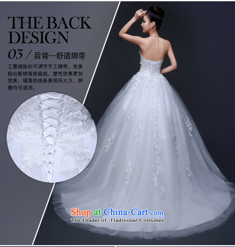 Pure bamboo wedding dresses new 2015 Red white long tail married ...