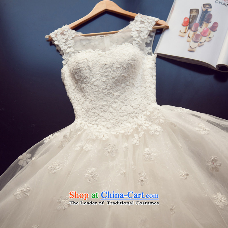 Yi Sang-wedding dresses Love 2015 new Korean brides slotted package shoulder lace spring and summer lace Princess Bride video to align the thin Sau San bon bon skirt female White�XXL