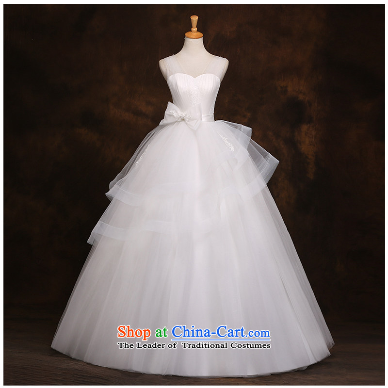 The beauty of the strap to align the lace A swing wedding stylish and simple Korean Sau San tie features a Bow Tie�2015 new marriages wedding dresses white�S
