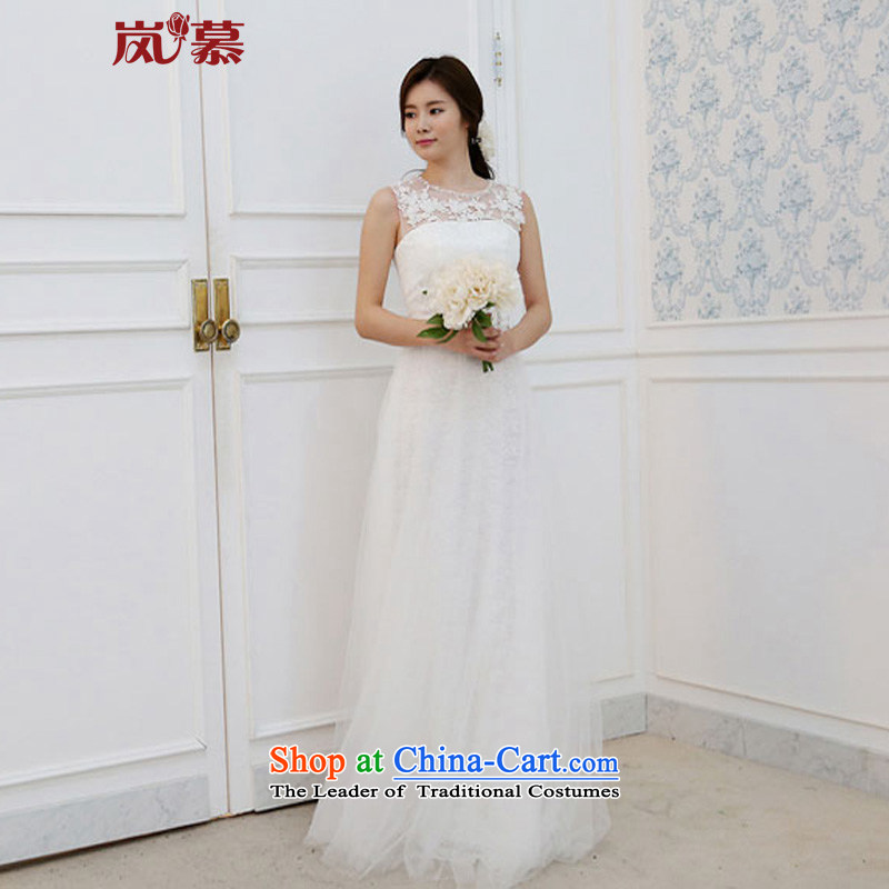 The sponsors of the new 2015 original design of a field of Sau San Soft Net shoulder lace align to bride style wedding�XL( pure white breast 95/ waist79)